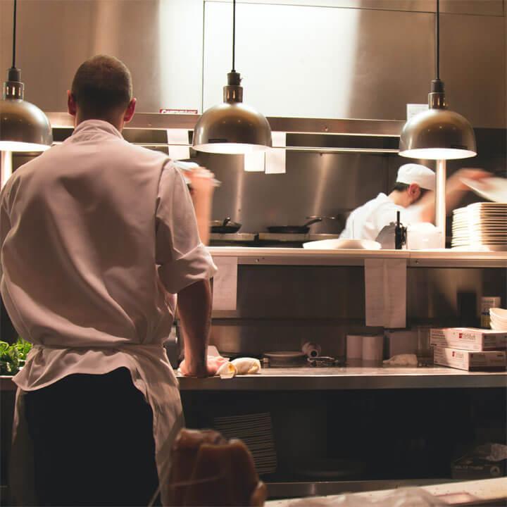 Pio Pio kitchen staff